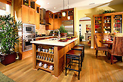 Stock Photo Of Model Home Kitchen
