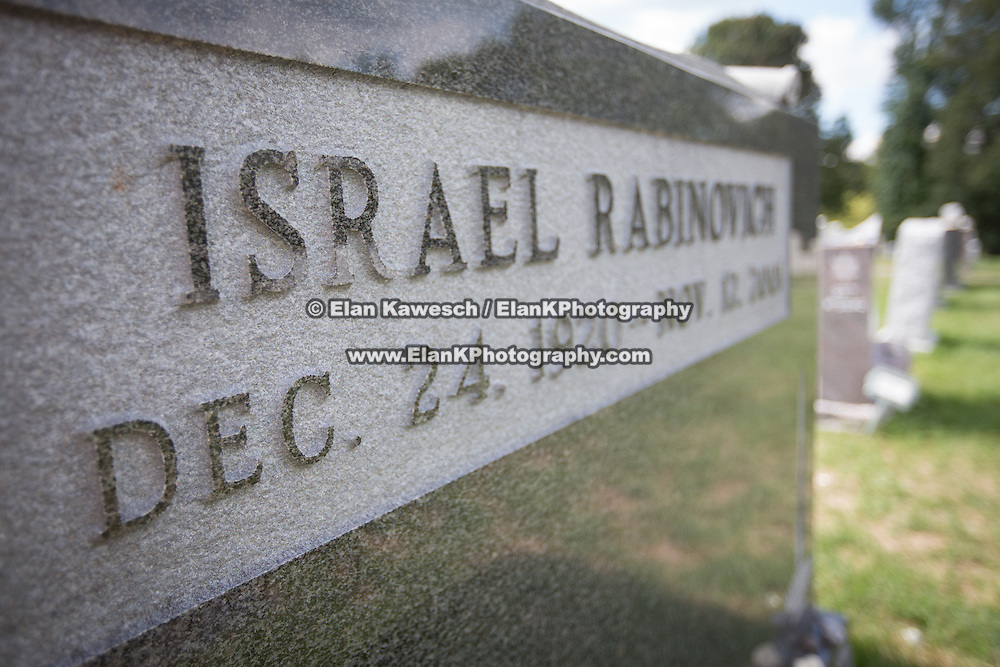 The Baker Street Jewish Cemeteries are seen in the West Roxbury neighborhood of Boston on September 1, 2014 in Boston, Massachusetts. (Photo by Elan Kawesch/The Times of Israel)