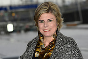 Koningin Máxima bij de Prins Bernhard Cultuurfonds Prijs 2015  in Muziekgebouw aan 't IJ in  Amsterdam. Het Cultuurfonds kent deze oeuvreprijs jaarlijks toe aan een persoon of instelling met een grote staat van dienst op gebied van cultuur of natuur in Nederland. Aan de prijs is een bedrag van 150.000 euro verbonden. <br /> <br /> Queen Máxima at the Prince Bernhard Culture Price in 2015 in the Muziekgebouw aan 't IJ in Amsterdam. The Culture Fund knows this lifetime achievement award presented annually to a person or organization with a strong track record in terms of culture and nature in the Netherlands. The prize is worth 150,000 euros.<br /> <br /> Op de foto / On the photo:  Aankomst prinses Laurentien / Arrival princess Laurentien