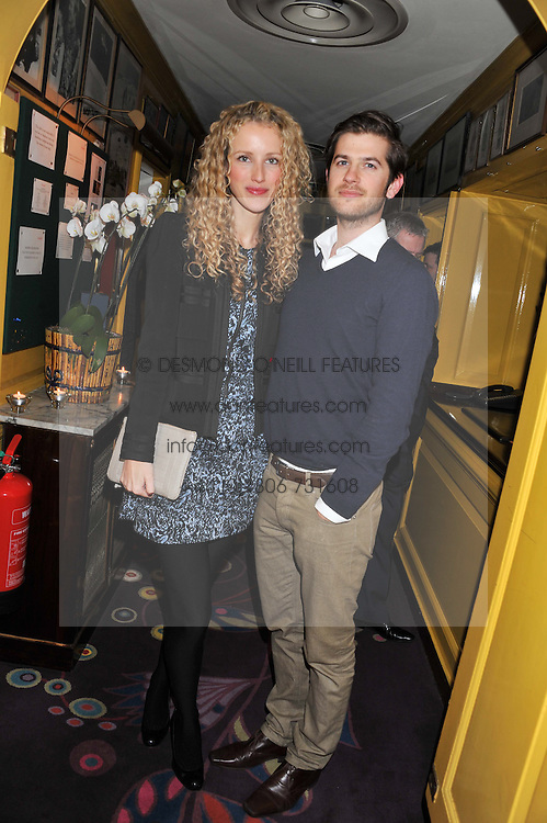 JACK & KATE FREUD at the Johnnie Walker Blue Label and David Gandy partnership launch party held at Annabel's, 44 Berkeley Square, London on 5th February 2013.