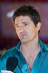 Tom Chambers  gives an interview during the  Strictly Come Dancing Photo call at the  MEN Arena 21 January 2009 © Paul David Drabble