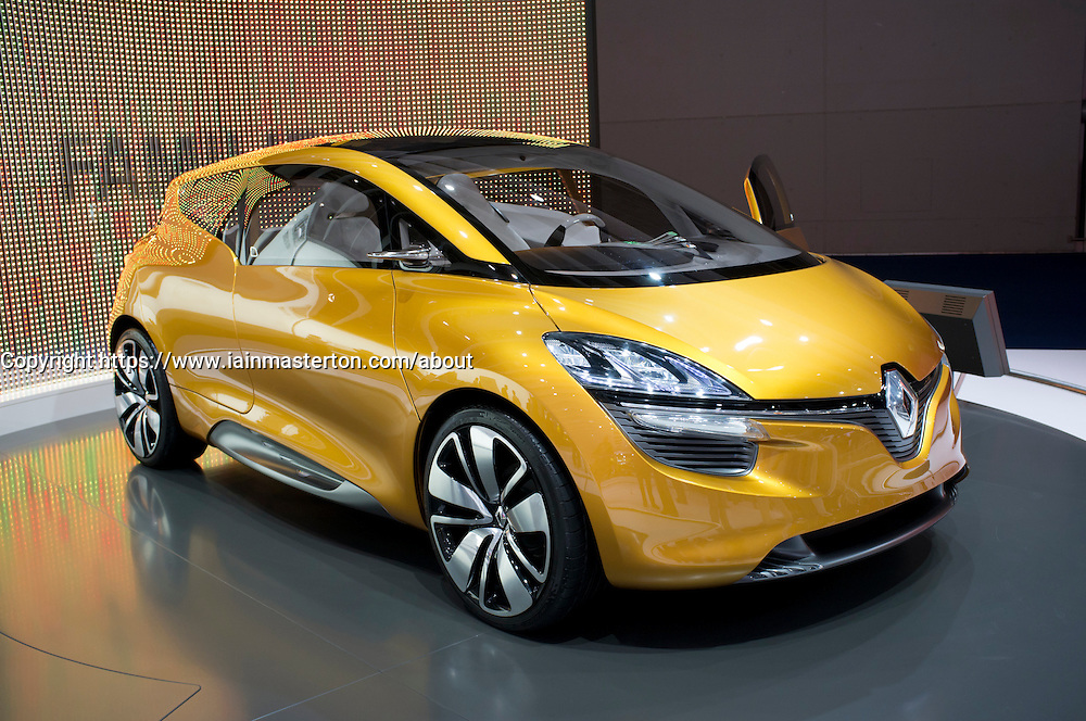 Renault R-Space concept car at Frankfurt Motor Show or IAA 2011 in Germany