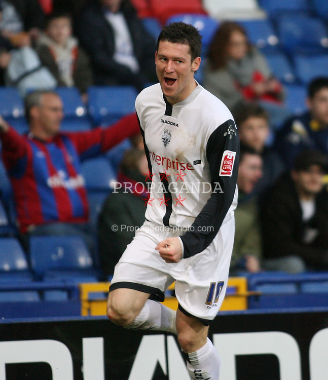 London, England - Saturday, January 27, 2007: Crystal Palace against David Nugent as he celebrates scoring the opening goal  during the FA Cup 5th Round match at Selhurst Park. (Pic by Chris Ratcliffe/Propaganda)