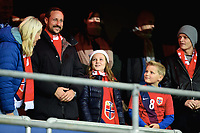 Fotball , 12. november 2014 ,<br /> Play-off , Norge - Ungarn<br /> EURO 2016 - Qualification: play-off<br /> Norway - Hungary 0-1<br /> Haakon Magnus, Mette-Marit , Ingrid Alexandra av Norge, Sverre Magnus av Norge, Marius Borg Høiby