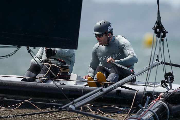 Ben Ainslie Racing practicing on San Francisco Bay before ACWS SF#1