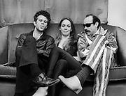 Tom Waits with Rickie Lee Jones and Budge Threlkeld backstage - London 1979