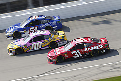 August 12, 2018 - Brooklyn, Michigan, United States of America - BJ McLeod (51), Landon Cassill (00) and Ryan Newman (31) battle for position during the Consumers Energy 400 at Michigan International Speedway in Brooklyn, Michigan. (Credit Image: © Chris Owens Asp Inc/ASP via ZUMA Wire)