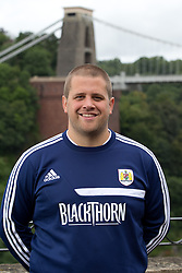 Bristol City masseur James Burnett - Photo mandatory by-line: Kieran McManus/JMP - Tel: Mobile: 07966 386802 31/07/2013 - SPORT - FOOTBALL - Avon Gorge Hotel - Clifton Suspension bridge - Bristol -  Team Photo