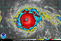 September 5, 2017 - Atlantic Ocean - National Weather Service reported Hurricane Irma had become a Category 5 with sustained winds of 180 miles per hour. That means Irma now ranks among the most powerful hurricanes (as measured by windspeed) ever recorded.Florida has declared a statewide emergency in response to Hurricane Irma, a roiling storm that intensified into 'an extremely dangerous Category 5 hurricane' while it churned toward the United States. (Credit Image: © NOAA/ZUMA Wire/ZUMAPRESS.com)