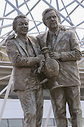 The statue outside of the iPro Stadium featuring club legends Brian Clough and Peter Taylor ahead of the Sky Bet Championship play-off first leg match between Derby County and Hull City at the iPro Stadium, Derby, England on 14 May 2016. Photo by Aaron  Lupton.