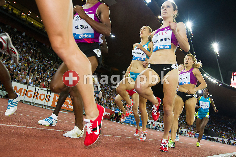 Atheltes compete in the women's 1500m during the IAAF Diamond League meeting at the Letzigrund Stadium in Zurich, Switzerland, Thursday, Aug. 19, 2010. (Photo by Patrick B. Kraemer / MAGICPBK)