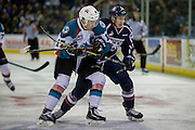 KELOWNA, CANADA - MARCH 04:  Rodney Southam #17 of the Kelowna Rockets and a Tri-City Player at the Kelowna Rockets game on March 04, 2017 at Prospera Place in Kelowna, British Columbia, Canada.  (Photo By Cindy Rogers/Nyasa Photography,  *** Local Caption ***