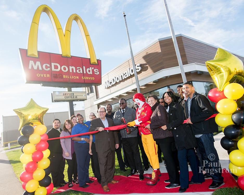 The Thrower family celebrates remodeling of Springwells Avenue McDonalds in Southwest Detroit.