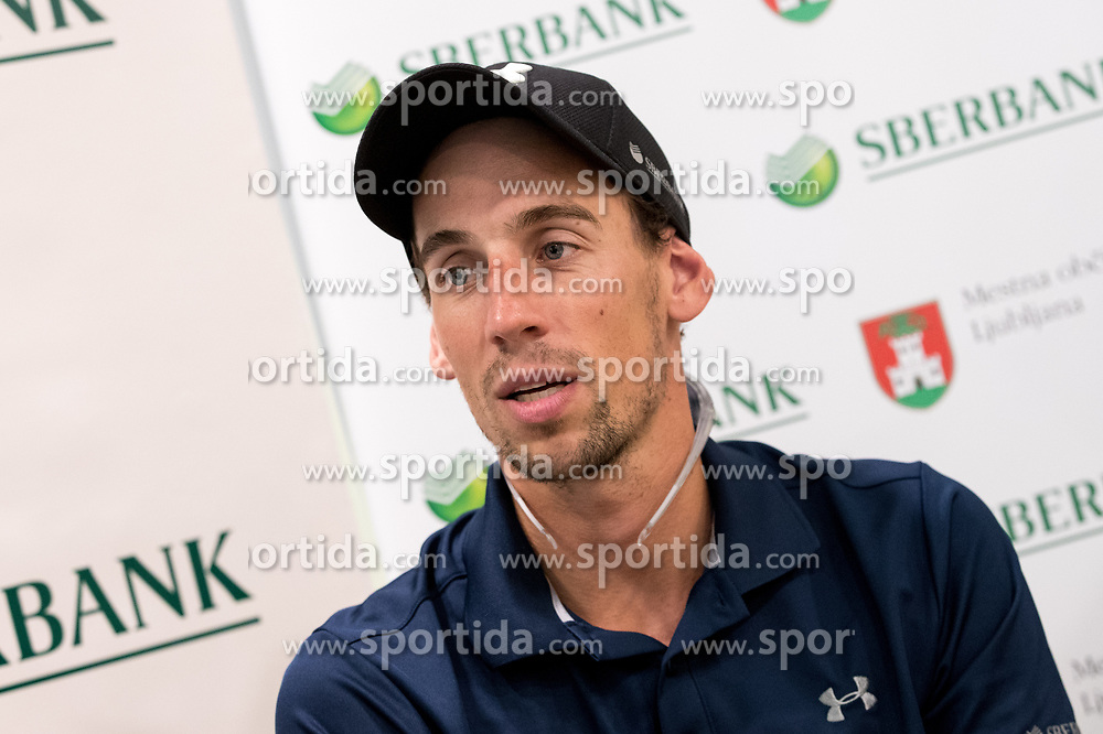 Nejc Zemljak at press conference of OZS about Beachvolley team Pokersnik - Zemljak, on July 08, 2017 in Sberbank, Ljubljana, Slovenia. Photo by Matic Klansek Velej / Sportida