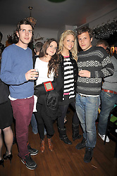 Left to right, MAX GRAHAM, KATIE DALLAS, POPPY CROSS and OLIVER DOWNIE at a party for Glenmorangie hosted at Barts,  Sloane Avenue, London on 26th March 2009.