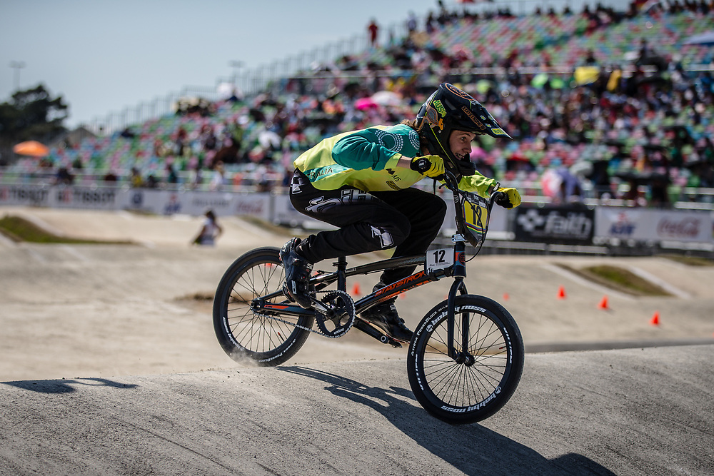 13 Boys #12 (HOWARTH Callum) AUS at the 2018 UCI BMX World Championships in Baku, Azerbaijan.