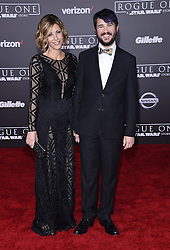 Celebrities arrive at the 'Rogue One: A Star Wars Story' movie premiere in Hollywood, California. 10 Dec 2016 Pictured: Wil Wheaton and Anne Wheaton. Photo credit: American Foto Features / MEGA TheMegaAgency.com +1 888 505 6342