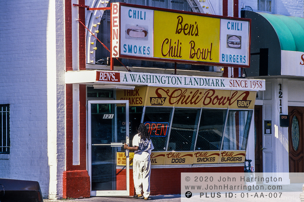 Historic Ben's Chili Bowl, along the U Street corridor.