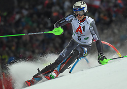 "29.01.2019, Planai, Schladming, AUT, FIS Weltcup Ski Alpin, Slalom, Herren, 1. Lauf, im Bild Henrik Kristoffersen (NOR) // Henrik Kristoffersen of Norway in action during his 1st run of men's Slalom ""the Nightrace"" of FIS ski alpine world cup at the Planai in Schladming, Austria on 2019/01/29. EXPA Pictures © 2019, PhotoCredit: EXPA/ Erich Spiess"