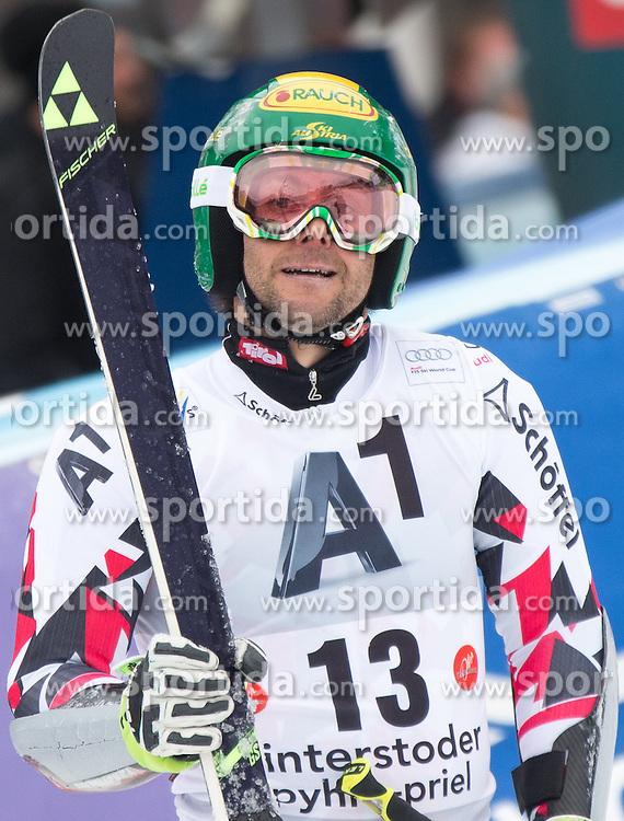 28.02.2016, Hannes Trinkl Rennstrecke, Hinterstoder, AUT, FIS Weltcup Ski Alpin, Hinterstoder, Riesenslalom, Herren, 2. Lauf, im Bild Philipp Schoerghofer (AUT) // Philipp Schoerghofer of Austria reacts after his 2nd run of men's Giant Slalom of Hinterstoder FIS Ski Alpine World Cup at the Hannes Trinkl Rennstrecke in Hinterstoder, Austria on 2016/02/28. EXPA Pictures © 2016, PhotoCredit: EXPA/ Johann Groder