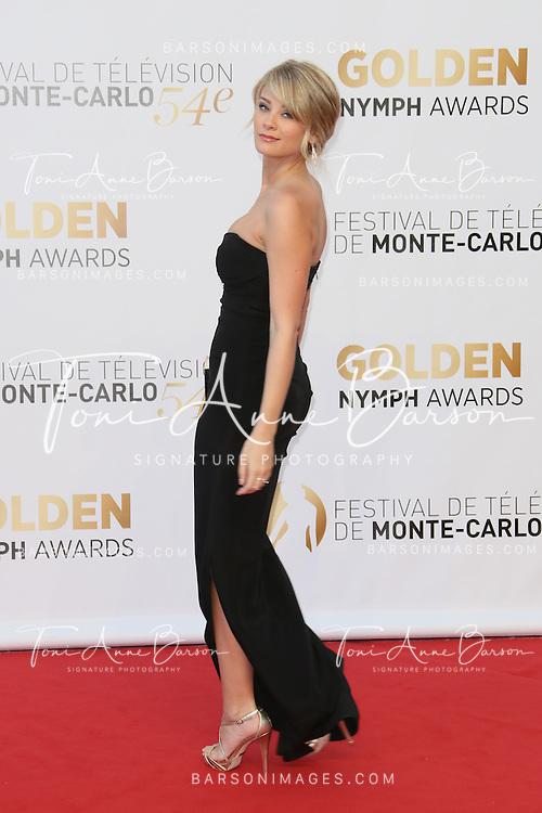 MONTE-CARLO, MONACO - JUNE 11:  Kim Matula attends the Closing Ceremony and Golden Nymph Awards of the 54th Monte Carlo TV Festival on June 11, 2014 in Monte-Carlo, Monaco.  (Photo by Tony Barson/FilmMagic)