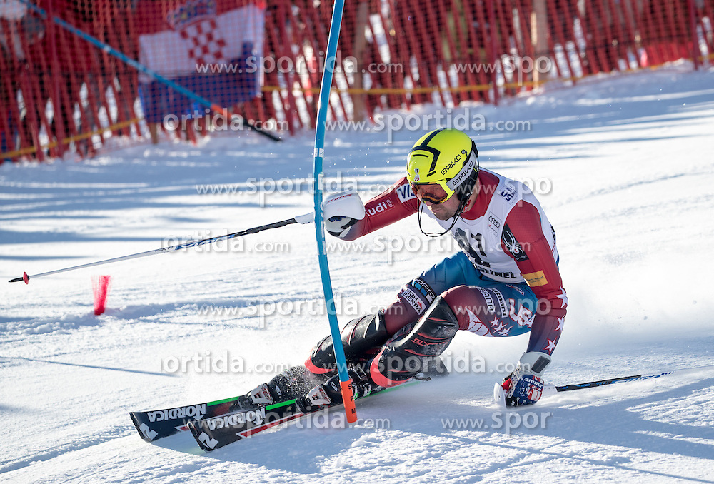 22.01.2017, Hahnenkamm, Kitzbühel, AUT, FIS Weltcup Ski Alpin, Kitzbuehel, Slalom, Herren, 1. Lauf, im Bild David Chodounsky (USA) // David Chodounsky of the USA in action during his 1st run of men's Slalom of FIS ski alpine world cup at the Hahnenkamm in Kitzbühel, Austria on 2017/01/22. EXPA Pictures © 2017, PhotoCredit: EXPA/ Johann Groder