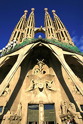 July 21, 2019 - Cathedral Sagrada Familia In Barcelona, Spain (Credit Image: © Peter Zoeller/Design Pics via ZUMA Wire)