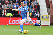 Brian Easton during the Ladbrokes Scottish Premiership match between Heart of Midlothian and St Johnstone at Tynecastle Stadium, Gorgie, Scotland on 2 August 2015. Photo by Craig McAllister.