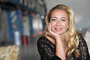 Perspresentatie Nederlands misdaaddrama Schone Handen in de Kromhouthal, Amsterdam.<br /> <br /> Op de foto: <br /> <br />  Camilla Siegertsz