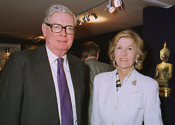 SIR ANTHONY & LADY TENNANT at a reception in London on 10th June 1998.<br /> MIE 6