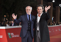 PAOLO SORRENTINO TONI SERVILLO SUL RED CARPET DELLA FESTA DEL CINEMA DI ROMA<br />