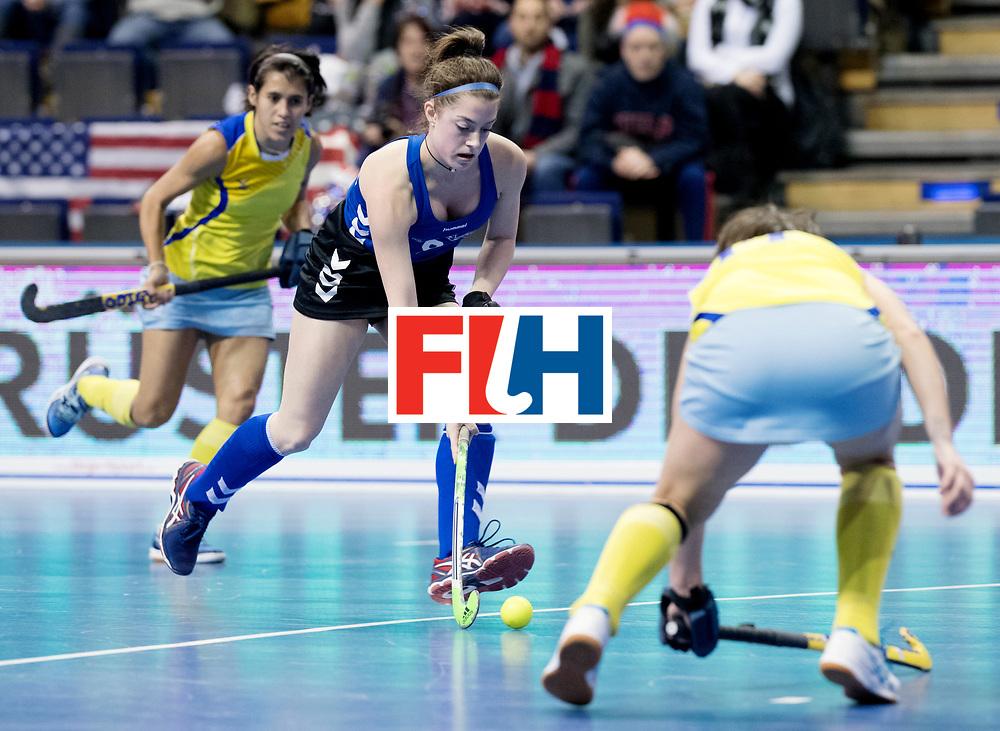 BERLIN - Indoor Hockey World Cup<br /> Women: United States - Kazakhstan<br /> foto: OROBONO Madison.<br /> WORLDSPORTPICS COPYRIGHT FRANK UIJLENBROEK