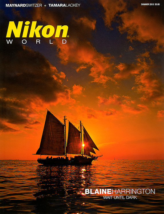 "The Summer 2013 cover story in Nikon World Magazine called ""Wait until Dark"". Blaine Harrington tells about his night photography and other shooting in very low light."