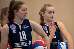 20-01-2019 NED: Talent Team Papendal - Sliedrecht Sport, Ede<br /> Round 15 of Eredivisie volleyball. Sliedrecht Sport win 3-0 (14-25, 14-25, 20-25) of Talent Team / Carlijn Ghijssen-Jans #10 of Sliedrecht Sport, Denise de Kant #12 of Sliedrecht Sport