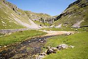 Gordale Scar carboniferous limestone gorge, Yorkshire Dales national park, England, UK