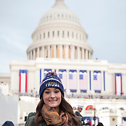 "Jessica Ledoux, traveled from Richmond, VA to attend the Inauguration of Donald Trump as the 45th President of the United States, January 20, 2017.  When asked about her hopes for a Trump administration, she replied that she hoped for ""better jobs, more funding for the military"", as well as hoping Trump is able to ""...restore the Supreme Court..."" in a conservative direction.  John Boal Photography"