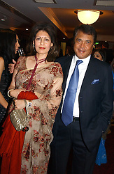 MR & MRS MONI VARMA - The Man behind the Veetee food Brand at the 10th Anniversary Asian Business Awards 2006 at the London Grosvenor Hotel Park Lane, London on 19th April 2006.<br />