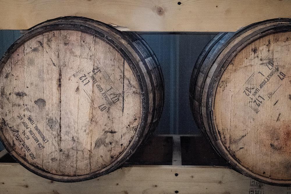Bourbon Barrels used to age the Farmhouse Hard Cider