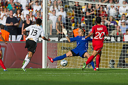26-06-2011 VOETBAL: FIFA WOMENS WORLDCUP 2011 GERMANY - CANADA: BERLIN<br /> Celia Okoyino a Mbabi (GER13 #14, Bad Neuenahr) erzielt gegen 1 Karina LeBLANC das 2:0 re 20 Marie-Eve NAULT <br /> ***NETHERLANDS ONLY***<br /> ©2011-FRH- NPH/Kokenge