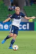 MELBOURNE, VIC - MARCH 05: Keisuke Honda (4) of Melbourne Victory passes the ball during the AFC Champions League soccer match between Melbourne Victory and Daegu FC on March 05, 2019 at AAMI Park, VIC. (Photo by Speed Media/Icon Sportswire)