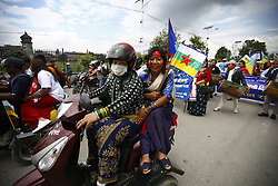 August 9, 2016 - Kathmandu, Nepal - Nepalese people from various ethnic groups take part in a rally to mark International Day of the World's Indigenous Peoples in Kathmandu, Nepal on Tuesday, August 9, 2016. This day is celebrated worldwide to promote and protect the rights of the world's indigenous population. (Credit Image: © Skanda Gautam via ZUMA Wire)