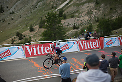 Leah Thorvilson (USA) of CANYON//SRAM Racing reaches the final meters of La Course 2017 - a 67.5 km road race, from Briancon to Izoard on July 20, 2017, in Hautes-Alpes, France. (Photo by Balint Hamvas/Velofocus.com)