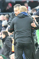 Football - 2018 / 2019 Premier League - Fulham vs. AFC Bournemouth<br /> <br /> Fulham manager Slaviša Jokanovi? shakes hands with Bournmouth manager Eddie Howe after losing at Craven Cottage.<br /> <br /> COLORSPORT/WINSTON BYNORTH