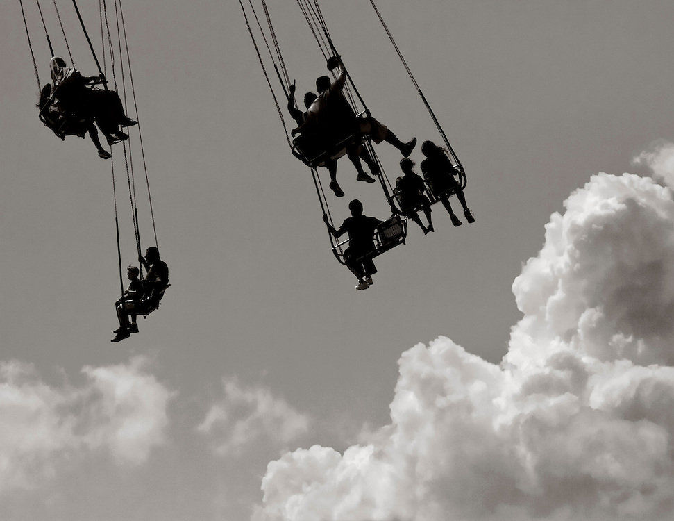 A new ride appears to take one up to the clouds.