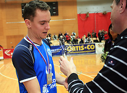 Dario Savicic, MVP at finals of Slovenian volleyball cup between OK ACH Volley and OK Salonit Anhovo Kanal, on December 27, 2008, in Nova Gorica, Slovenia. ACH Volley won 3:2.(Photo by Vid Ponikvar / SportIda).