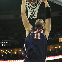 21 January 2009:  New Jersey Nets center Brook Lopez (11) dunks during a 102-92 win by the New Orleans Hornets over the New Jersey Nets at the New Orleans Arena in New Orleans, LA. .