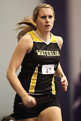 London, Ontario ---11-01-22---   Nancy Spreitzer of the Waterloo Warriors competes at the 2011 Don Wright meet at the University of Western Ontario, January 22, 2011..GEOFF ROBINS/Mundo Sport Images.