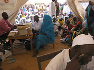 MSF clinic for malnourished children in Sudan