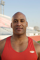 Male athlete at stadium
