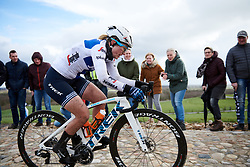 Lotta Lepistö (FIN) crosses the VAMberg at Ronde van Drenthe 2019, a 165.7 km road race from Zuidwolde to Hoogeveen, Netherlands on March 17, 2019. Photo by Sean Robinson/velofocus.com